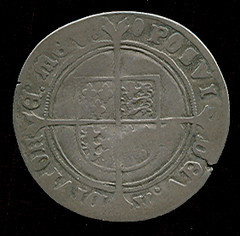 creased shilling reverse