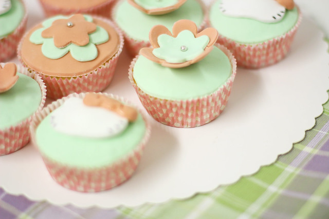 cupcake fondant toppers easter