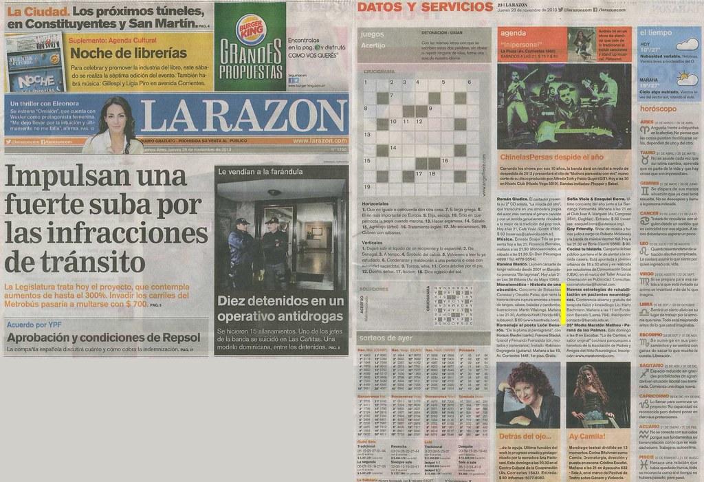 Diario La Razón 28-11-13