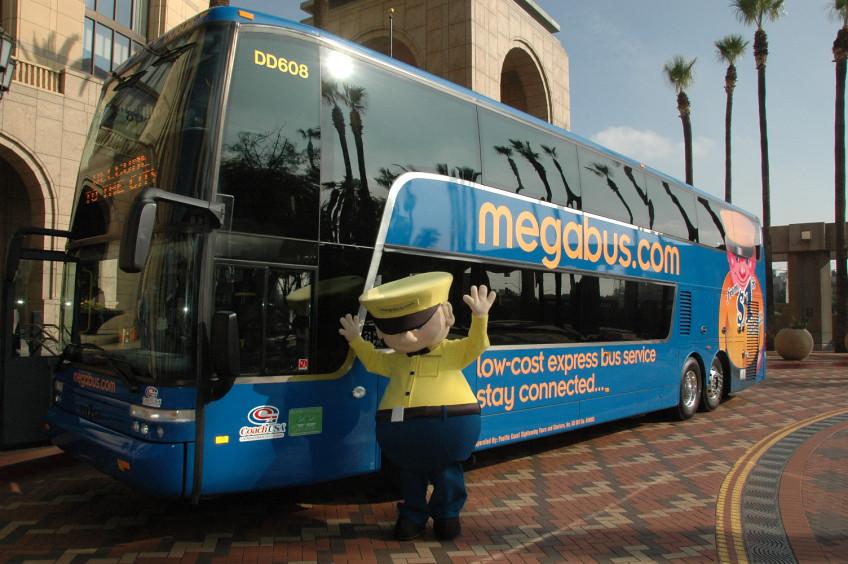 Megabus, Patsaouras Transit Plaza, November 28, 2012