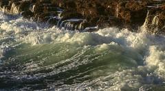 Soothing sound of crashing waves
