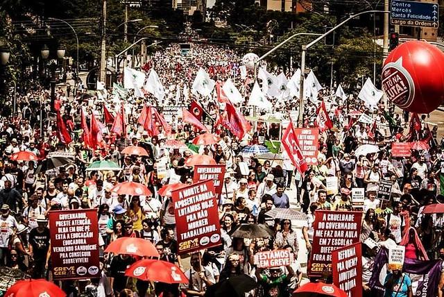 Manifestação em Curitiba (PR), no último dia 15 - Créditos: Leandro Taques