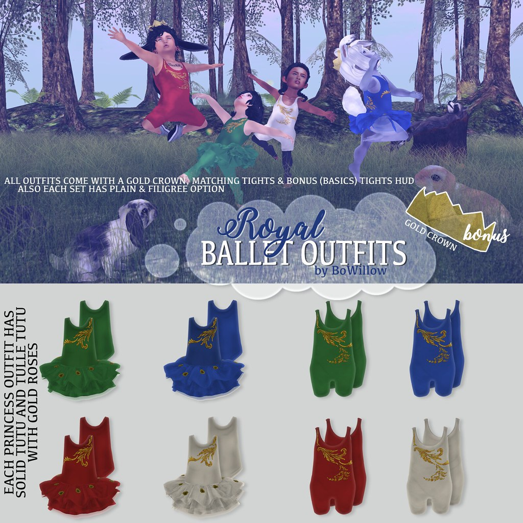 Royal Ballet Outfits Ad - SecondLifeHub.com
