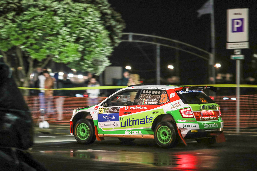 23 BARBOSA Miguel RAMALHO Miguel  Skoda Fabia R5 Action during the 2017 European Rally Championship ERC Azores Rally - Photo Jorge Cunha / DPPI