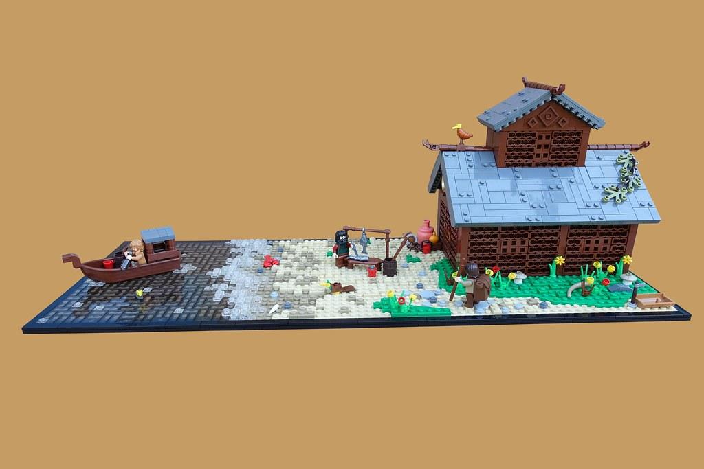 9 Kingdoms: Fishing Lodge (custom built Lego model)