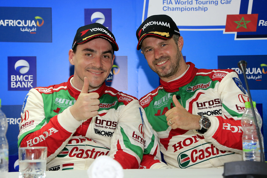 MICHELISZ Norbert (hun) Honda Civic team Castrol Honda WTC ambiance portrait MONTEIRO Tiago (prt) Honda Civic team Castrol Honda WTC ambiance portrait during the 2017 FIA WTCC World Touring Car Race of Morocco at Marrakech, from April 7 to 9 - Photo Paulo Maria / DPPI
