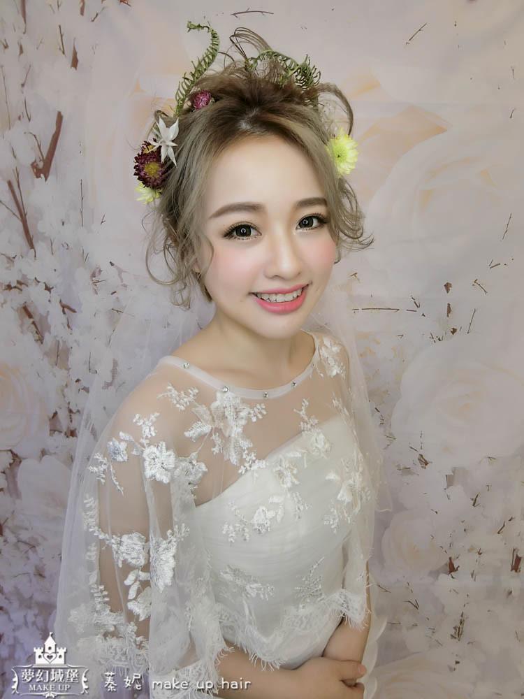 【新秘蓁妮】新娘造型創作 / 短髮-夢幻仙境
