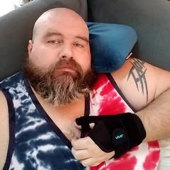 I keep falling asleep and it is just 7pm. #gay #gaybear #beard #beardbear #beardporn #gaybeard #tiredoldqueen #introvert #dogdad #fatandfabulous #gaydallas #gaycarrolltontx