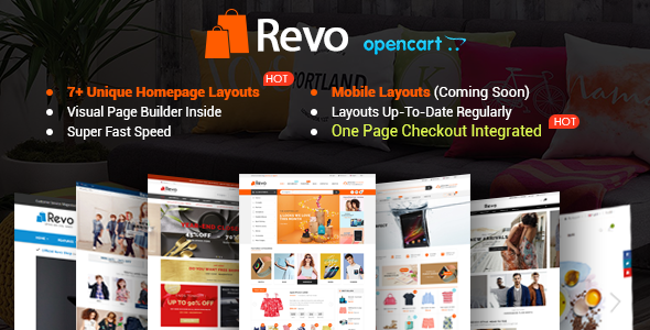 Revo v1.0.1 - Drap & Drop Multipurpose OpenCart Theme