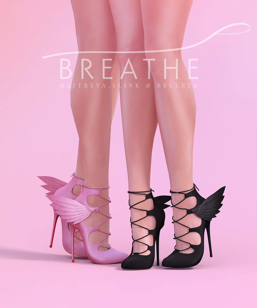 [BREATHE]-Raven Heels - SecondLifeHub.com