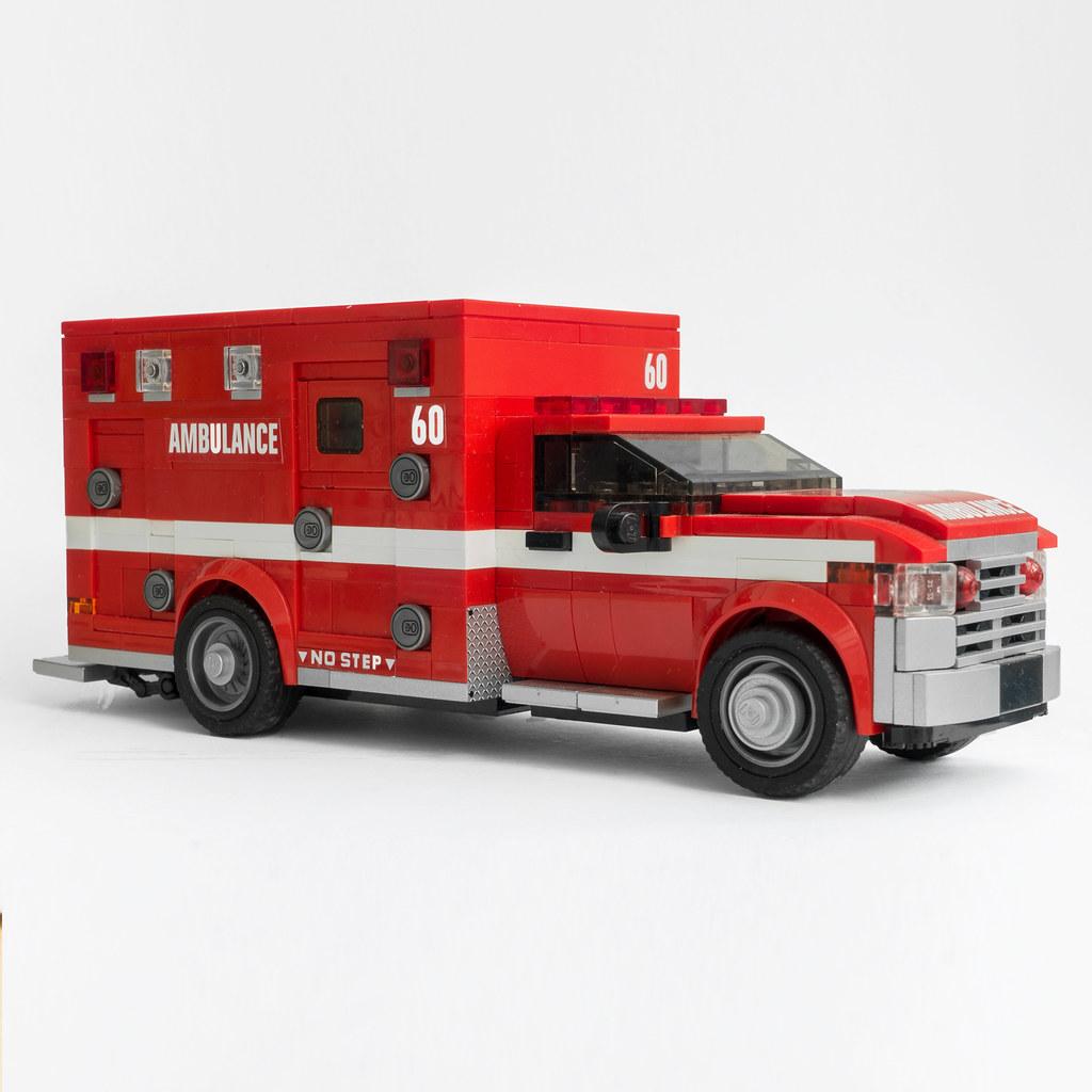 Los Angels Fire Department Ambulance (custom built Lego model)