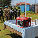 Bukavu, South Kivu Province, DR Congo: Through its South Kivu Brigade, the MONUSCO Force handed over in Bukavu a dozen solar panels, batteries, three generators and necessary accessories to the Armed Forces of DR Congo.