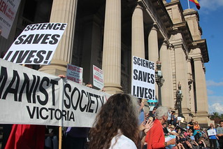 Humanist Sciety of Victoria - Melbourne #MarchforScience on #Earthday