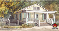 Trompe Loeil - Shelter Island Cottages, Couch & Chair for Uber April