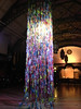 Julia Vogl's recycled bottles sculpture at Discovery Museum