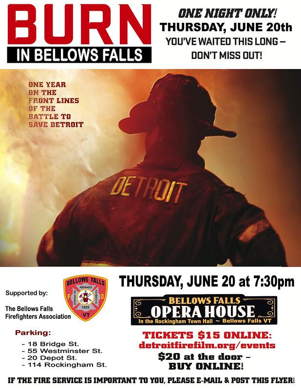 BURN in BELLOWS FALLS