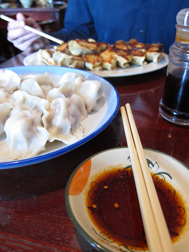 steamed and fried dumplings