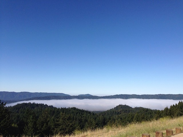 Sea clouds over Santa Cruz Mountains