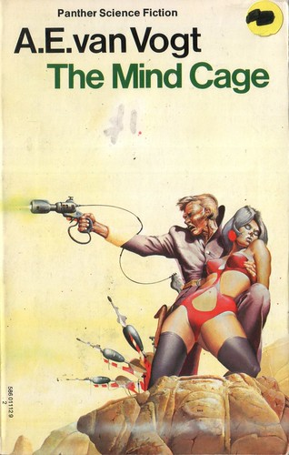 The Mind Cage by A.E. Van Vogt. Panther 1975. Cover artist Peter Andrew Jones