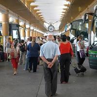 Interior de la Estación de Autobuses del Prado