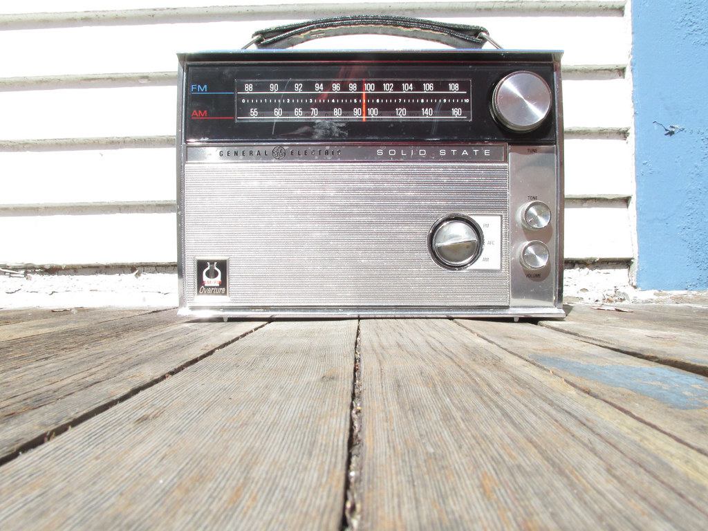 Classic old radio 1960s or 70s style
