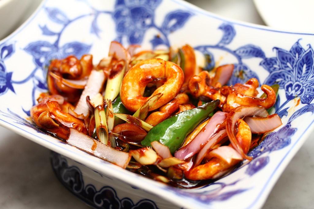 真正的蓝色菜肴:Sotong Hitam