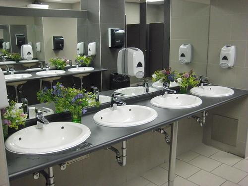 Mens Restroom Flowers