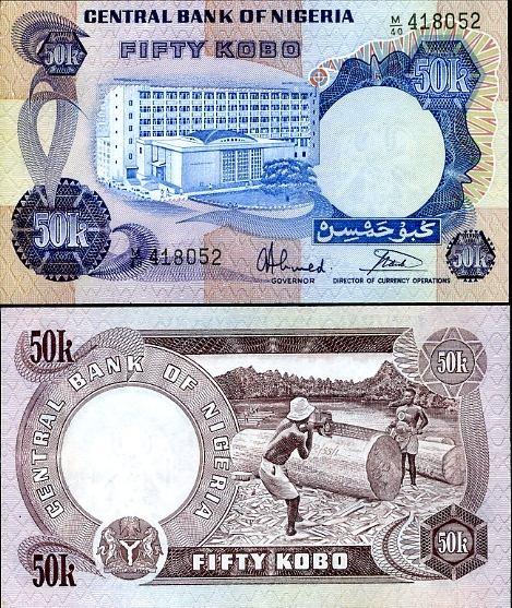 50 Kobo Nigéria 1973-78, Pick 14g