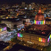 San Francisco City Hall and War Memorial Opera House lit up for SF Pride by Gavin St. Ours