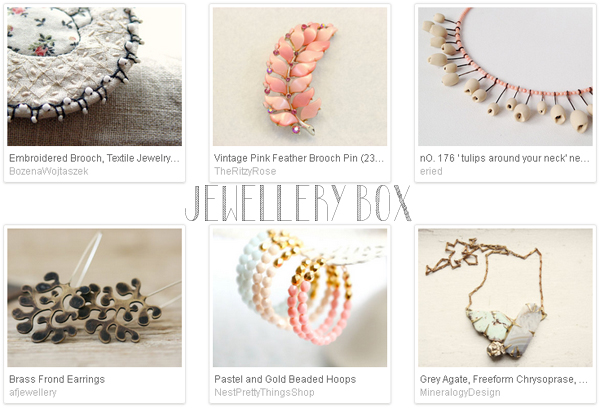 Etsy favourite lists : 'jewellery box' curated by Emma Lamb