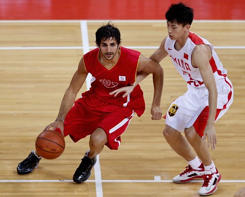 July 1st, 2013 - Ricky Rubio dribbles in the Yao Foundation charity game in Beijing