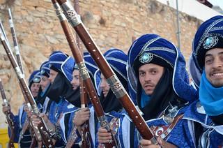 Moros y cristianos / Mojacar/guerreos en azul y turquesa