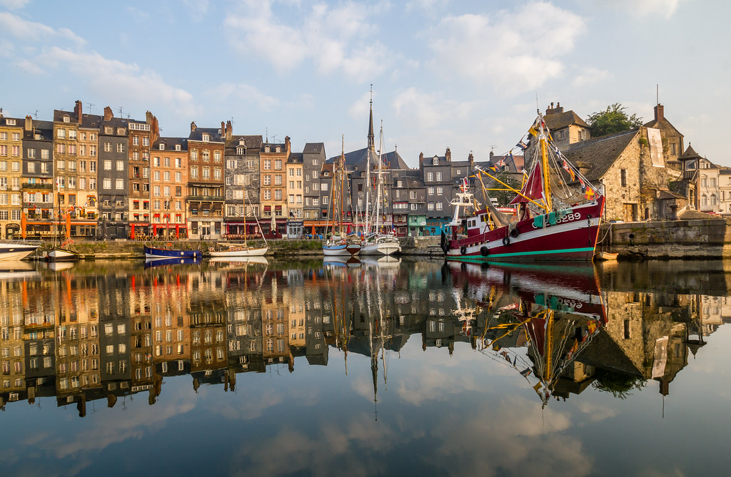 The old port of Honfleur, France
