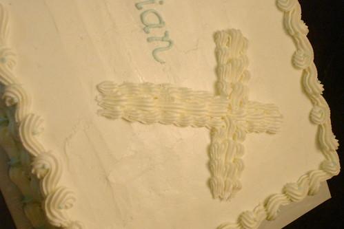 Baby Boy Baptism Cake by melissatarun