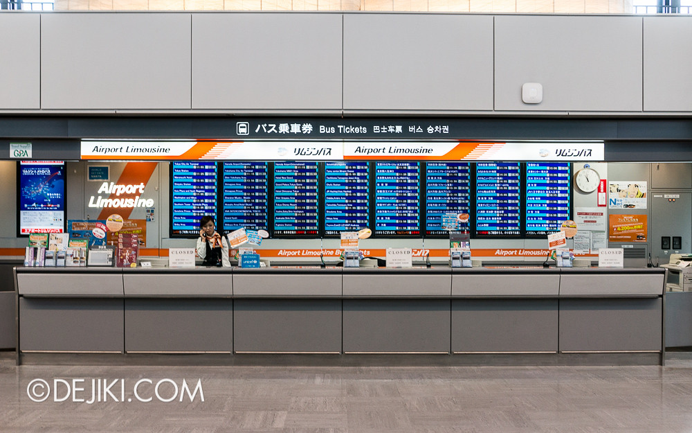 Narita Airport - Airport Limousine Ticketing Counters