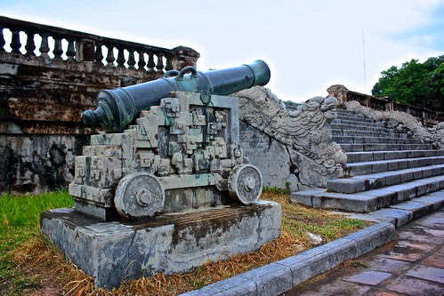 an old cannon in the Hue Citadel