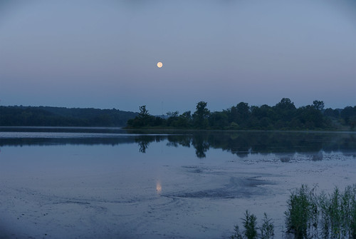 Moonset Reflections