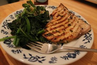 Swordfish on the grill
