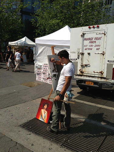 Portrait painter, Union Square
