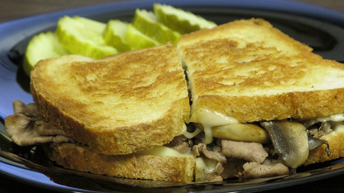Mushroom Swiss roast beef melt by Coyoty
