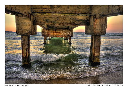 under the pier by Kostas Tsipos