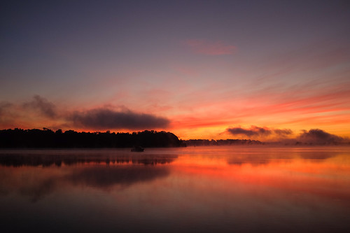 Sunrise on the Sassafras River off of the Chesapeake Bay. Fuji X100S, 1/450 @ f2, exp. comp. -1.0