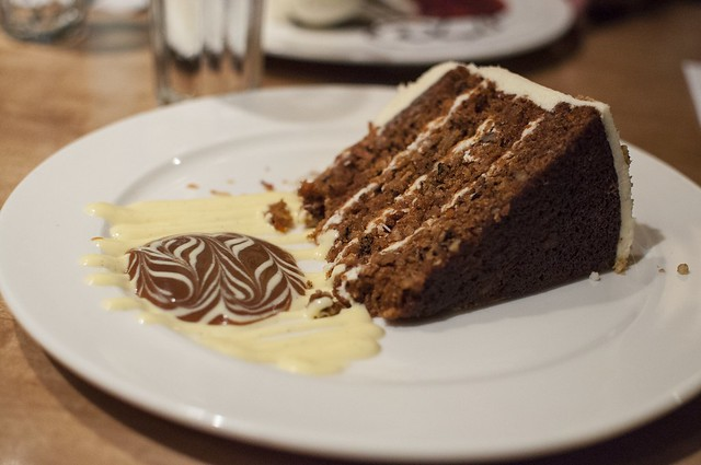 Carrot Cake | My carrot cake at Papa Haydn. It was so rich a ...