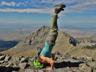Blanca Peak Headstand (14,345 ft)