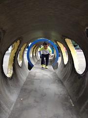 トンネルくぐる 2013/9