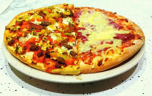 "Pizza ""Salami"" & ""Turkish Lahmacun Style"""