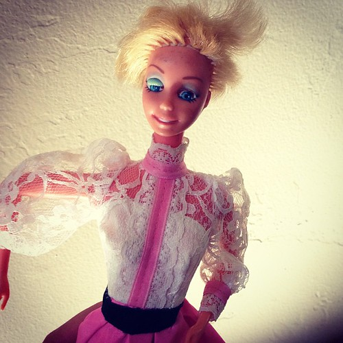 """Mama, tell me about the time you gave your Barbie a haircut."""