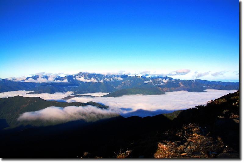 雪山山脈(From 南湖大山遠眺西南) 1