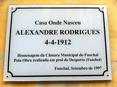 Photo of Alexandre Rodrigues white plaque