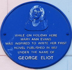 Photo of George Eliot blue plaque